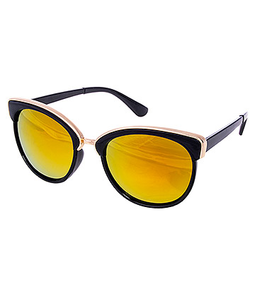 Blue Banana Gold Top Sunglasses (Black/Gold)
