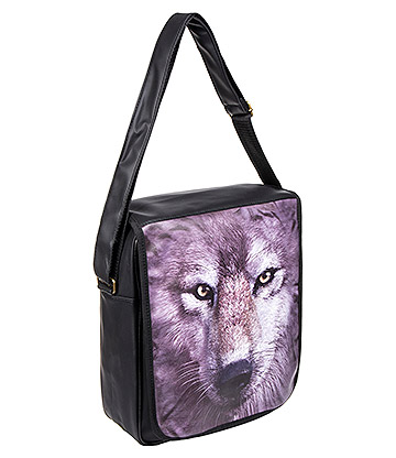 Blue Banana A4 Wolf Shoulder Bag (Black)