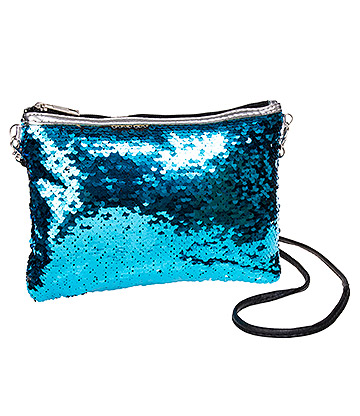 Blue Banana Two Way Sequin Clutch Bag (Aqua)