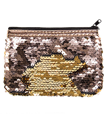 Blue Banana Two Way Sequin Purse (Gold)