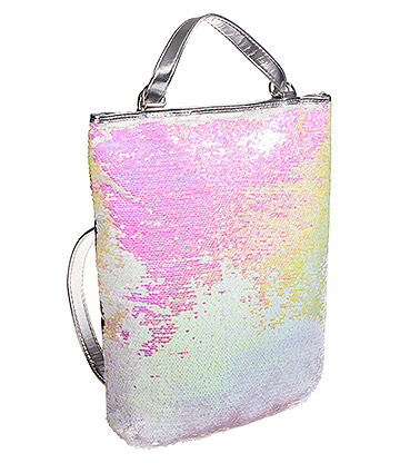 Blue Banana Two Way Sequin Backpack (Pink)
