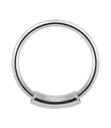 Blue Banana Zylinder Ring Piercing (Silber)