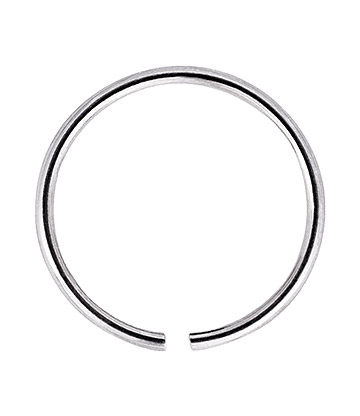 Blue Banana Silver 1.0 x 6mm Seamless Nose Ring (Silver)