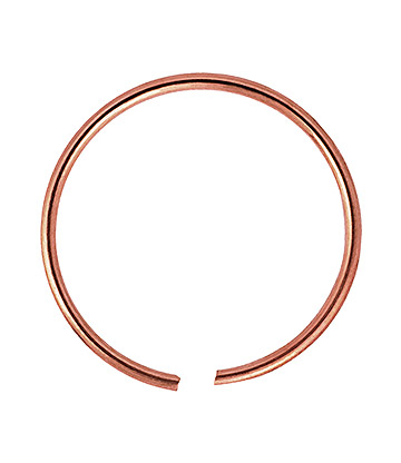 Blue Banana Rose Gold 0.8mm Seamless Ring (Rose Gold)