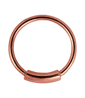 Blue Banana Rose Gold 1.0mm Cylinder Closure Ring (Rose Gold)