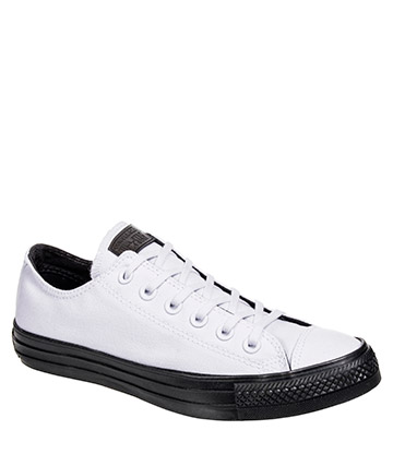 Converse All Star Ox Shoes (White/Almost Black)
