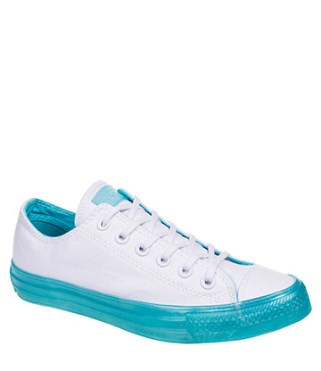 Converse All Star Dainty Ox Shoes (White/Bleached Aqua)