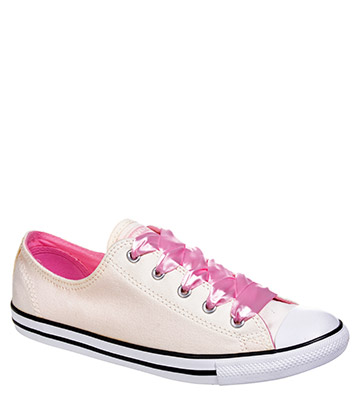 Converse All Star Dainty Ox Shoes (Egret/Cherry)