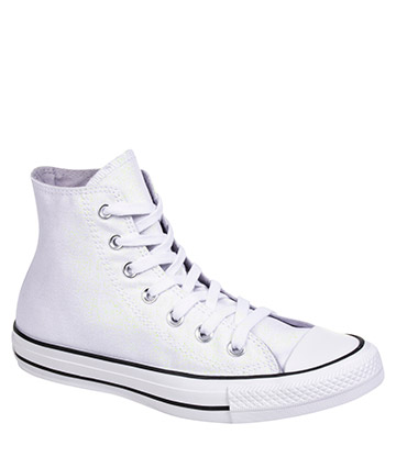 Converse All Star Shimmer Hi Top Boots (White)