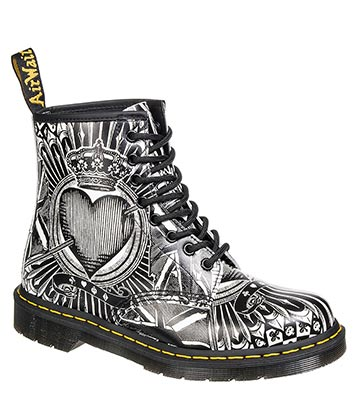 Dr Martens Playing Card 1460 Boots (Black/White)