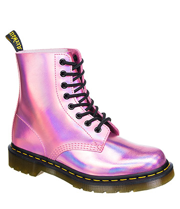 Dr Martens Iced Metallic Pascal 1460 Boots (Mallow Pink)