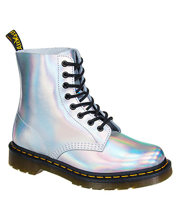 Dr Martens Iced Metallic Pascal 1460 Boots (Silver Lazer)