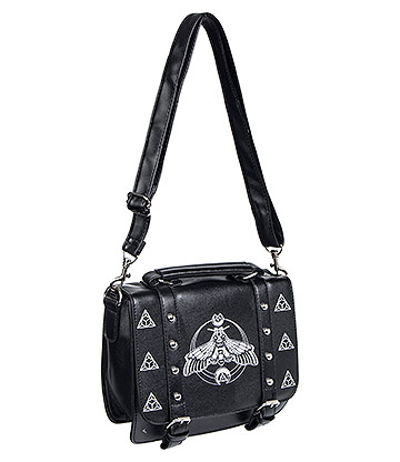 Banned Moth Satchel Bag (Black/White)
