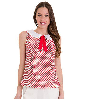 Banned Ditsy Daisy Shirt (Red)