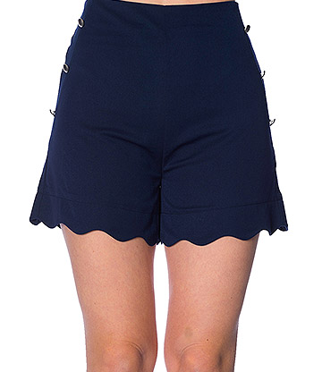 Banned Sally Scallop Shorts (Navy)