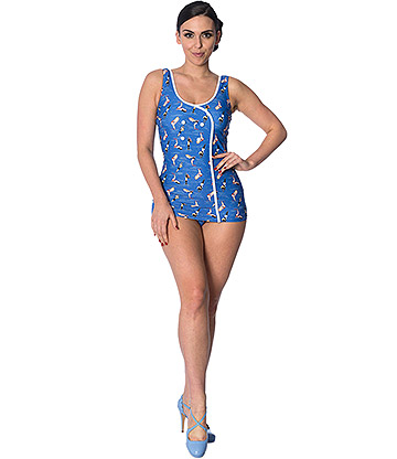 Banned Dive In Swimsuit (Blue)