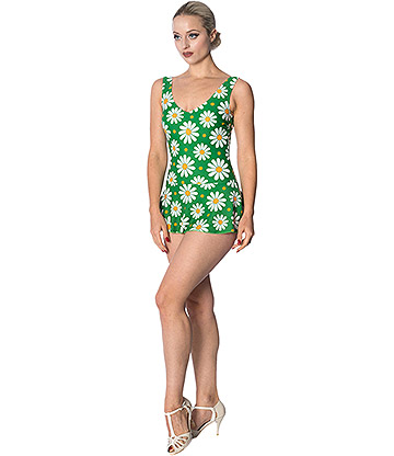 Banned Crazy Daisy Swimsuit (Green)