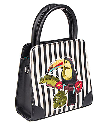 Banned Toucan Stripe Bag (Multicoloured)