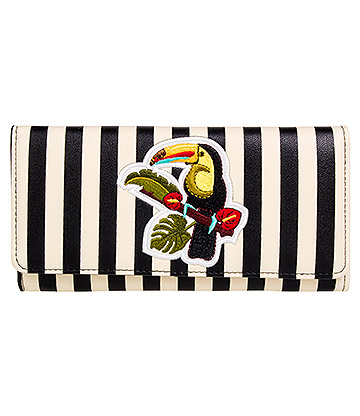 Banned Toucan Stripe Wallet (Multicoloured)