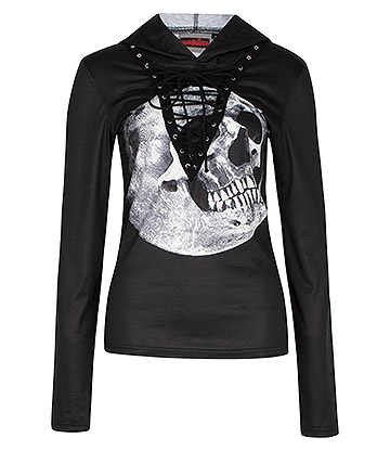 Jawbreaker Skull In The Moon Hoodie (Black)