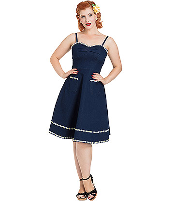 Voodoo Vixen Daisy May Dress (Blue)