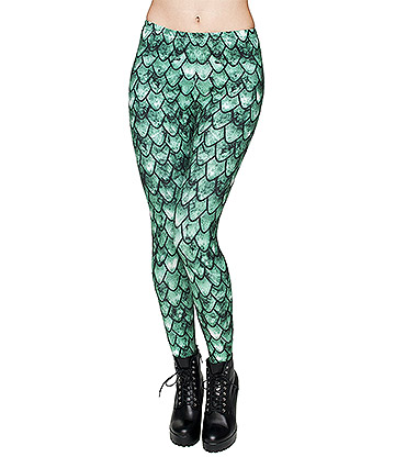 Kukubird Dragon Leggings (Green)