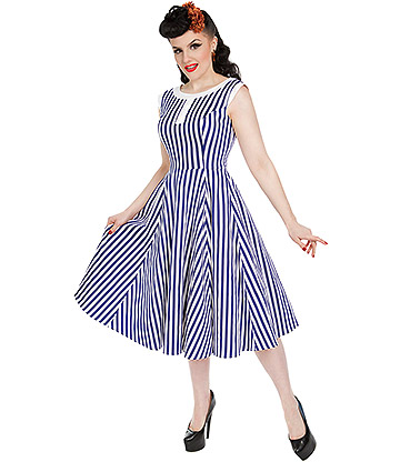 H&R Hepburn Stripe Dress (Blue/White)