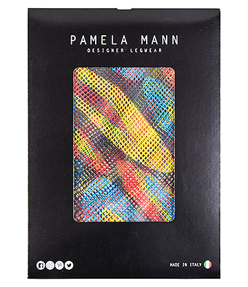 Pamela Mann Hoops Printed Net Tights (Multicolorued)
