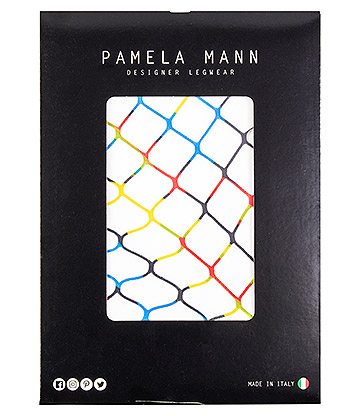 Pamela Mann Hoop Printed Extra Large Fishnet Tights (Multicoloured)