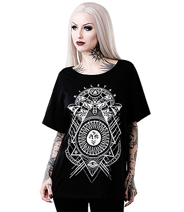 Killstar Sun Relaxed T Shirt (Black)