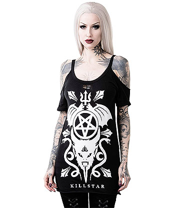 Killstar Folklore Distressed Top (Black)
