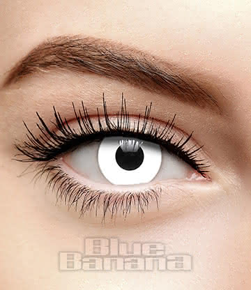 White Out 90 Day Coloured Prescription Contact Lenses (White)