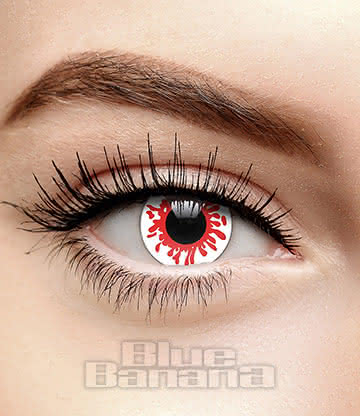 Reaper 90 Day Coloured Prescription Contact Lenses (Red/White)