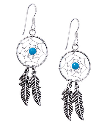 Blue Banana Dreamcatcher Earrings (Blue)