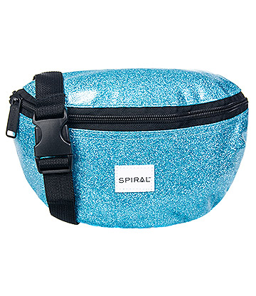 Spiral Glitter Jelly Bum Bag (Blue)
