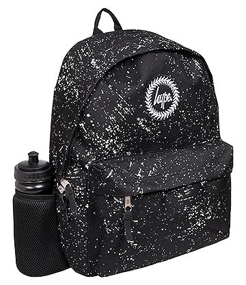 Hype Speckle Backpack with Water Bottle (Black/White)