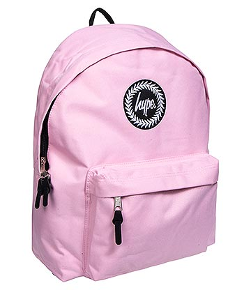 Hype Badge Backpack (Baby Pink)