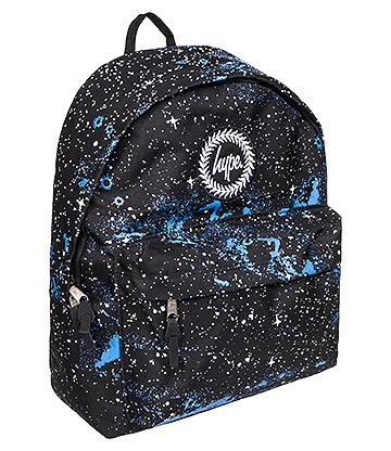 Hype Universe Speckle Backpack (Black/Blue/White)