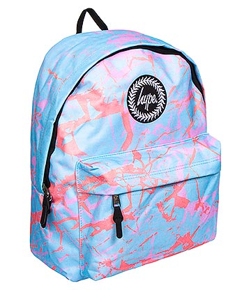 Hype Pastel Marble Backpack (Blue)