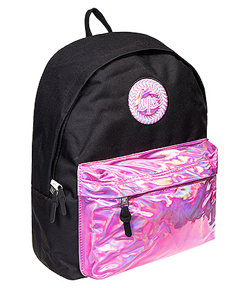 Hype Holographic Pocket Backpack (Pink/Black)