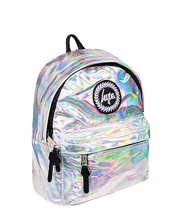 Hype Holographic Mini Backpack (Silver)