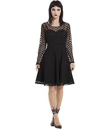 Jawbreaker Heartcore Lace Dress (Black)