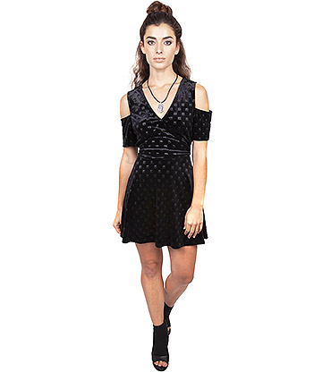 Jawbreaker Pyramid Skater Dress (Black)