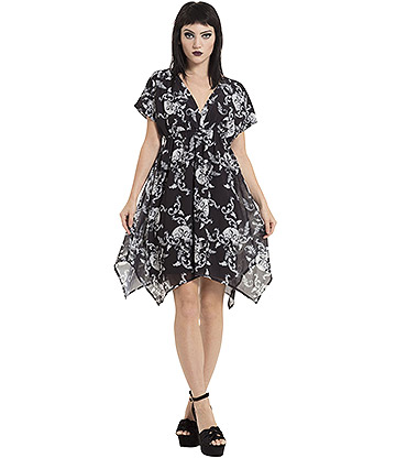 Jawbreaker Baroque Hanky Dress (Black)