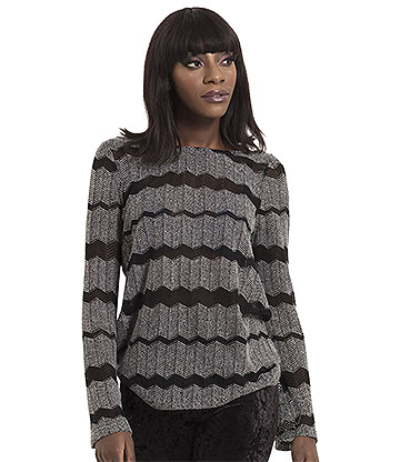 Jawbreaker Striped Sweater (Grey)