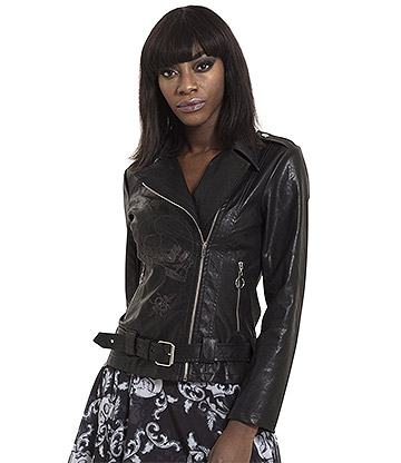 Jawbreaker Ride Or Die Vegan Leather Jacket (Black)