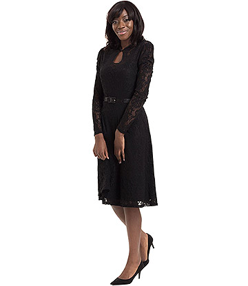 Voodoo Vixen Dita Lace Dress (Black)