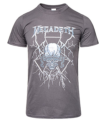Official Megadeth Electric Vic T Shirt (Charcoal)