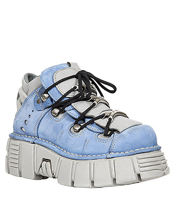 New Rock M.106-S21 Tower Platform Shoes (Blue/Grey)