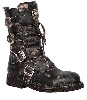 New Rock M.1473-S48 Comfort-Light Vintage Calf Boots (Brown)